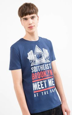 100% cotton T-shirt with printed lettering | OVS