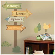 Zoo Signs Giant Wall Decal $25.99