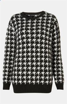 Topshop Houndstooth Sweater #Nordstrom