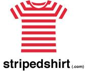 I bought my wife a red and white striped shirt from stripedshirt.com for Valentine's Day.