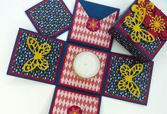 Geschenke für Frauen - Explosionsbox Geschenk Schmetterlinge - ein Designerstück von Stempelitis bei DaWanda