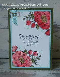 Watercolouring with Birthday Blooms