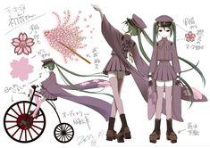"Hatsune Miku's ""Senbonzakura"" Concept Art   「お祝い&千本桜・設定書」/「一斗まる」の漫画 [pixiv] [02]"