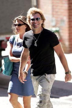 Jon Bon Jovi with wife Dorothea, strolling in SoHo