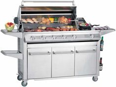 Bbq Grill, Barbecue, 6 Burner Bbq, Innovative Systems, Stainless Steel Bbq, Kitchen Appliances, Cooking, Design, Window