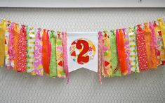 Two-tti Fruity, Tutti Fruitty Frutti Fabric rag banner, Girls bright birthday party decor, cake Fruit Birthday, 2nd Birthday Party Themes, Birthday Party Decorations, Girl Birthday, Birthday Ideas, Watermelon Birthday, Theme Parties, Rag Banner, Rag Garland