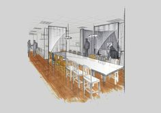 Ellie Nonemacher | Office Design Studio | Interior Architecture Design | Marker Perspective