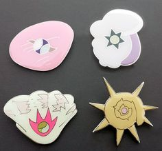 Pokemon Badges from the Orange Islands