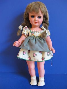 This beauty is made of Hard Plastic.Both the Head & the Body Crier work! Appears to have never been played with. Signed on her Neck: Wernicke 178/6 Has on Original Flowered Dress. Original: panties socks and shoes. | eBay!