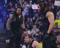 The Shield: Roman Reigns (L), Dean Ambrose (M) and Seth Rollins (R)