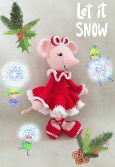 Angelina Ballerina Christmas/ Valentine's Day Mouse