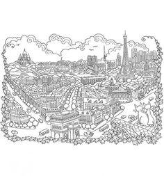 Das größte Zencolor-Buch | Das Weltall & Landschaften zum ausmalen von TOPP