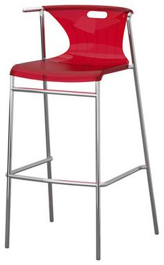 Furniture Design, The Modern Bar Stools And Counter Stools Design Idea Also Beautiful Red Color Design Idea Then Beautiful Decoration Style: The New Style Mode Of The Bar Stools Ikea Look So More The Best With The New Innovation