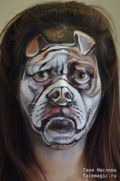 Bulldog. Face paint by Tanya Maslova.