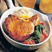 Orange Mustard Pork Chop Skillet.