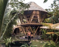 Hideout Beehive – Unique Jungle Bamboo Home At Hideout Bali Bamboo House Bali, Bamboo House Design, Bamboo Bar, Jungle Tree, Jungle House, Off Grid, Resorts, Bali Huts, Bali Baby