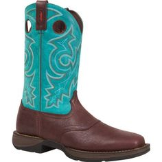 Rebel by Durango Saddle Pull-On Western Boot.  These are comfortable cowboy boots with color for a cool, rebel style.