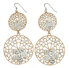Silvermood Delicate Italian manufacturing for these silver chandelier earrings.
