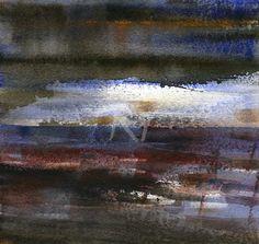 GRISAZUR: Acuarela sobre papel, 16,5x17,5 cm.Ene.3, 2015