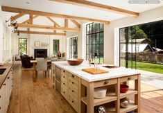 Love the natural wood and airy feel. Want these floors.