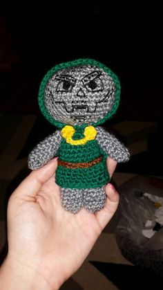 Check out this item in my Etsy shop https://www.etsy.com/uk/listing/252726401/crochet-doll-dr-doom-6-sci-fi-geek-retro