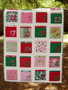 Countdown to Christmas quilt!