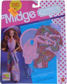 *1990 Wedding day fashions Midge outfit 2 #9633 asst #9635