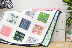 Safari Party Easy Charm Square Quilt Tutorial - Coral + Co.-watermakr.jpg