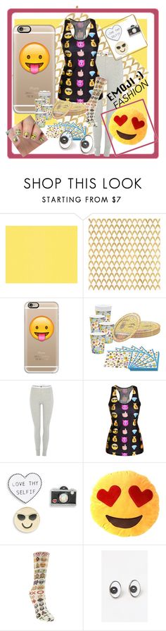 """""""emoji loungeware"""" by gilliewill ❤ liked on Polyvore featuring Barclay Butera, Casetify, Tommy Hilfiger, Design Lab, Odd Sox and PINTRILL"""
