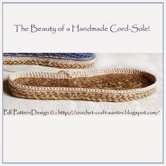 Crochet & Craft: UPDATED CORD-SOLE TUTORIAL!