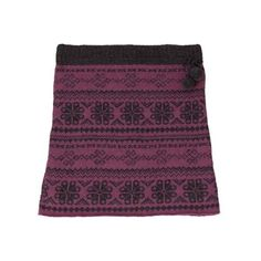 Women's Laundromat Eva Knit Stretch Skirt - Berry (€67) found on Polyvore featuring women's fashion, skirts, red, purple print skirt, red print skirt, knit skirt, purple skirt and elastic waist skirt