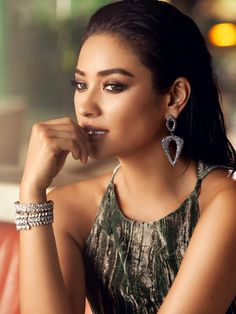 Shay Mitchell Guest Bartender Collection. These luxe drop earrings feature delicate pavé set against an ebony backdrop.