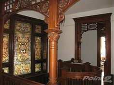 From a house built in 1893-Harrodsburg,KY This is an interior of the castle on Lexington Road.