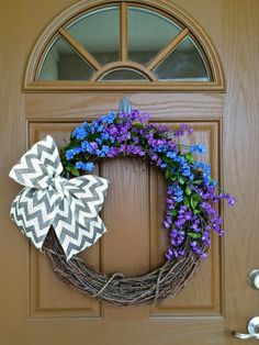 Chevron Spring Wreath Offer (DIY coming soon)