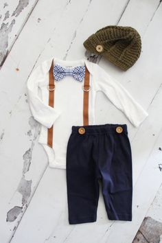 Newborn Baby Boy Coming Home Outfit Set up by ChicCoutureBoutique