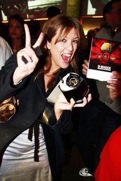 La vincitrice del contest G-Shock. Party di compleanno G-SHOCK all'Azimut. Torino, 15 dicembre 2012. Festeggiamo i 30 anni di G-SHOCK. #gshock #gshock30italia #torino #festa