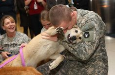 Soldiers coming home to their lovable pups! Man's best friend! Dogs Welcome Home Soldiers 2014 - https://www.youtube.com/watch?v=5BnxV9H_ExA Puppies & Babies...