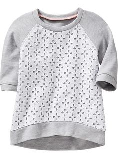 Eyelet-Front Terry-Fleece Tunics for Baby Product Image