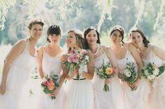 Blush chiffon bridesmaids dresses | by Elika In Love. www.elikainlove.com Bridesmaids, Bridesmaid Dresses, Wedding Dresses, Wedding Of The Year, Look Here, Nautical Wedding, Vancouver, Amber, Congratulations