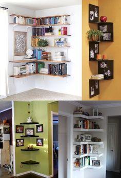 Идеи угловых полок Brick Shelves, Corner Shelves, Luxury Homes Dream Houses, Shared Rooms, Room Wall Decor, Sweet Home, New Homes, House Design, Medusa