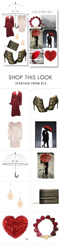 """""""umbrella (story)style 3"""" by jessicad110916 ❤ liked on Polyvore featuring Burberry, Jerome C. Rousseau, Boohoo, Kate Spade, Amanti Art, Miss Selfridge, Vince Camuto and Betsey Johnson"""