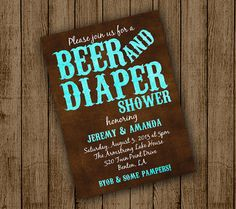 Beer and Diaper Baby Shower Man Baby Shower Beer by andyneal331