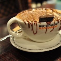 Messy chocolate drips. Our favorite. Now I know where I will get my coffee fix on Sunday :)