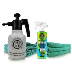 Chemical Guys HOL401 - Eco Friendly Drought-Buster Waterless Car Wash & Wax Kit (8 Items)