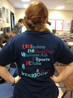 Yearbook themed class t-shirts