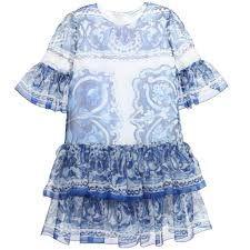Resultado de imagem para blue and white baby girls wear