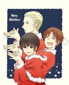 Merry Christmas Hetalia Axis Powers Germany Italy & Japan