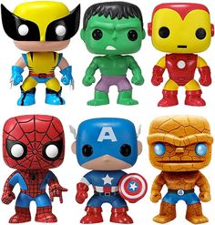 various Marvel heroes