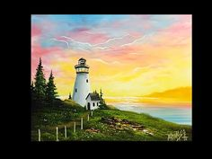 FREE PAINTING LESSON - Landscape painting -Painting with magic season 4 ep 10 Light of the sea - YouTube