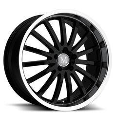 17 MANDRUS MILLENIUM  BLACK POLISHED 8J 5 stud 32 offset alloy wheels  MANDRUS…